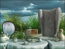 Завтрак в саде Стоковые Фото
