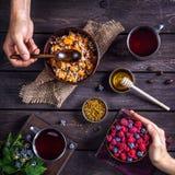 Завтрак деревни стоковая фотография rf