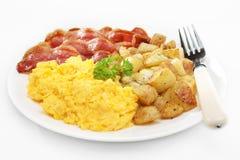 завтрак жарит домой стоковое изображение rf