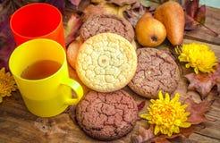 Завтрак или закуска осени сладостные Стоковые Изображения RF