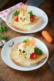 Завтрак или обед для детей Стоковые Изображения