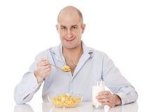 Завтрак корнфлекса. стоковое изображение rf