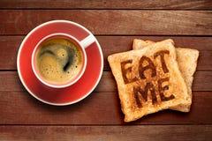 Завтрак, кофе и здравица Стоковое Изображение