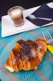 Завтрак круассана Стоковое Изображение