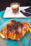 Завтрак круассана Стоковые Фото
