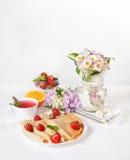 Завтрак клубники стоковое фото