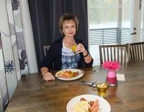 Завтрак на гостинице Стоковое Фото