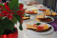 Завтрак на рождестве Стоковые Изображения