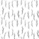 Завтрак-обеды зимы акварели сухие отлили в форму морем на белой предпосылке иллюстрация штока