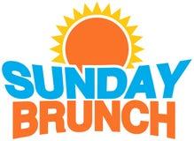 завтрак-обед воскресенье Стоковое Изображение