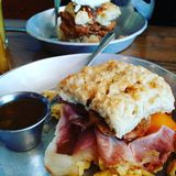 Завтрак-обед печенья Стоковая Фотография