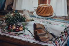 Завтрак пасхи стоковое изображение rf
