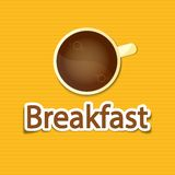 Завтрак плаката Стоковое Изображение