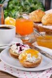 Завтрак плюшки с рикоттой Стоковое Изображение RF