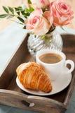 завтрак романтичный Стоковое Фото