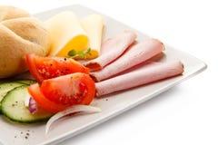Завтрак - сандвич ветчины и сыра стоковое фото rf