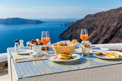 завтрак свежий Стоковое фото RF