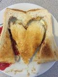 завтрак сердечный Стоковые Фотографии RF