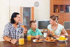 Завтрак с апельсиновым соком Стоковые Фотографии RF