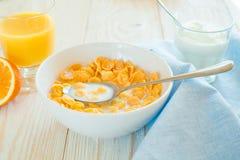 Завтрак с хлопьями мозоли Стоковые Изображения RF