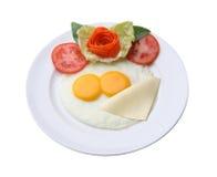 Завтрак с яичком и сыром Стоковая Фотография RF