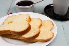 Завтрак хлебца бриоши Стоковое фото RF