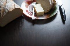 Завтрак хлеба с маслом Стоковые Фотографии RF