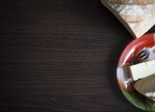 Завтрак хлеба с маслом Стоковая Фотография