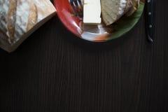 Завтрак хлеба с маслом Стоковые Фото