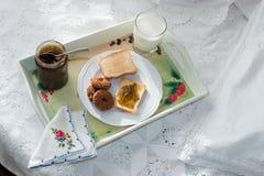 завтрак 2 кроватей Стоковое Изображение