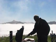 Завтрак BBQ на ферме Стоковое фото RF