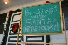 завтрак santa стоковая фотография rf