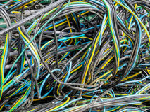 Завязанные провода и кабели спагетти Стоковое Изображение RF