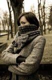 загадочная женщина портрета Стоковые Изображения RF