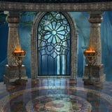 Загадочная старая предпосылка дворца Стоковое Изображение