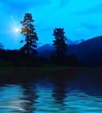 загадочные горы стоковые фото