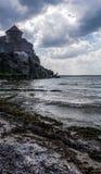 Загадочная былинная средневековая крепость Akkerman в Украине Стоковые Изображения RF