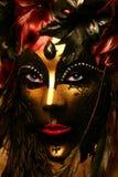 Загадочная венецианская маска Стоковые Фотографии RF