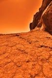 Загадочная земная планета Стоковые Изображения RF