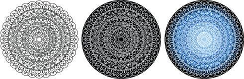 Загадочная красивая мандала для книжка-раскраски сделайте по образцу кругом изолировано иллюстрация вектора