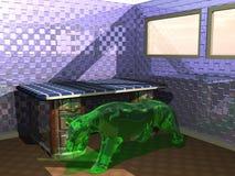 Загадочная скульптура животного иллюстрация вектора