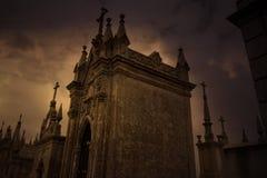 Загадочное кладбище Стоковая Фотография RF