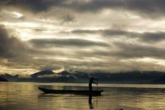 Загадочное озеро Lugu Стоковое фото RF