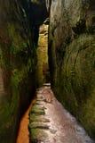 Загадочное скалистое ущелье Стоковая Фотография