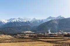Загадочное снежное плато Стоковая Фотография