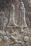 Загадочные megalithic штендеры Tiya, место всемирного наследия ЮНЕСКО, Эфиопия стоковые фото