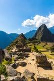 Загадочный город - Machu Picchu, Перу, Южная Америка. Incan руины и терраса. Стоковые Фотографии RF