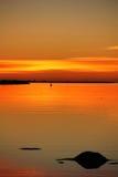 загадочный заход солнца Стоковые Изображения
