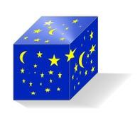 Загадочный звездный куб Стоковые Фото