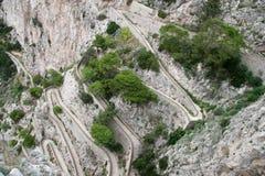 Загибы Hairpin, Италия Стоковое фото RF
